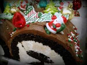 Christmas Chocolate Cake Roll