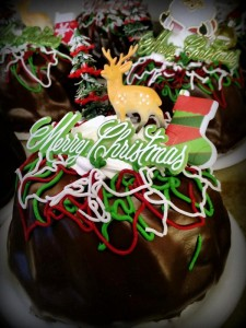 Christmas Decorated Chocolate Creme Pound Cake