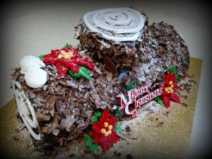Small Chocolate Gnache Yule Log