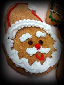 Gingerbread Santa Face
