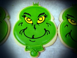 Royal Iced Grinch Sugar Cookie