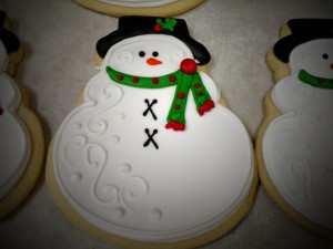 Royal Iced Snowman Sugar Cookie