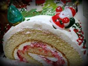 Christmas Yellow Cake Roll