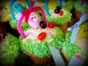 Easter Basket Cupcake - Yellow Cake