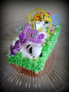Large Pound Cake Easter Basket