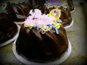 Easter Decorated Chocolate Cream Pound Cake