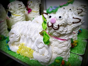 Easter Lamb W/ White Butter Cream Icing