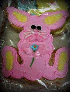 Large Easter Cookie - Royal Iced and Individually Bagged - Facing Bunny