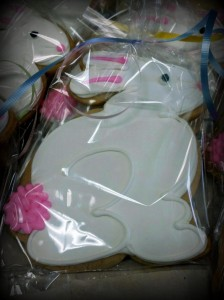 Large Easter Cookie - Royal Iced and Individually Bagged - Side Bunny