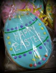 Large Easter Cookie - Egg - Royal Iced and Individually Bagged